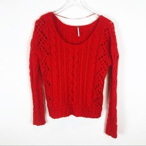 Free People chunky knit sweater size medium